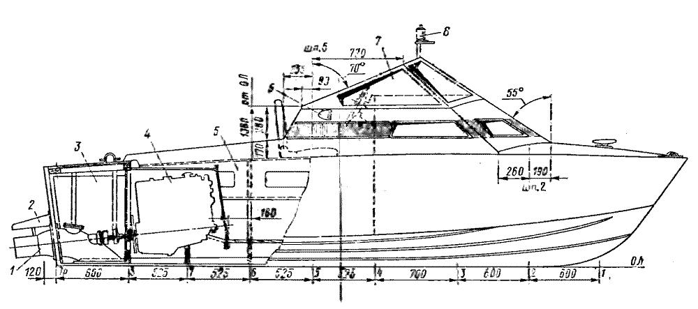 компоновка водометного катера